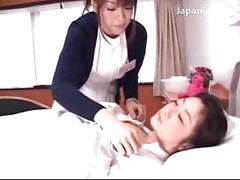 Sleeping Nurse Getting Her Tits Body Rubbed Kissed By Her Colleauge On The Hospitals Bed<br>