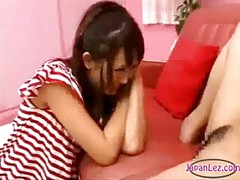Asian Girl Licked Fingered By