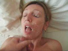 real homemade amateur facial cum slut
