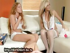 Lesbian lingerie makeout