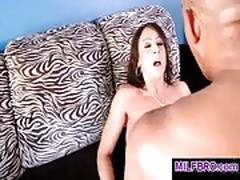 Milf opens her pussy for a