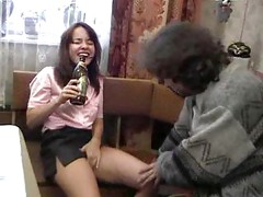 Crazy Russian Drunlen Teen