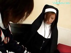 Nun Getting Her Tits And