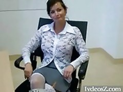 Amateur Babe Propositioned By Her Boss in Office