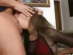 Petite Minx Amber Rayne Furiously Throat Fucked