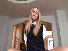 schoolgirl pov fuck
