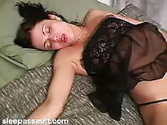 Sleeping babe gets her pussy