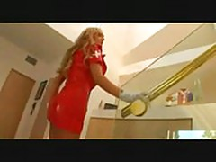 Amy reid nurse with red latex