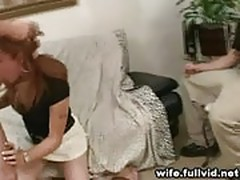 Redheaded Housewife Sucks