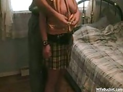 Wife gets tied up and fucked