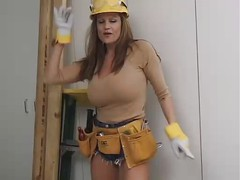 Titted Cougar At Work...F70