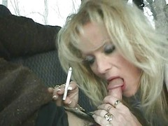 Hot Blonde MILF Staci Smoking