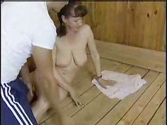 Mature Mom Fucked In Sauna ( amateur mother milf granny )<br>