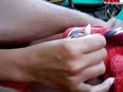 handjob in public with cumshot CRAZY