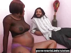 Black Pregnant Amateur Enjoys Big Cock<br>