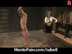 Sexy dominatrix punish her