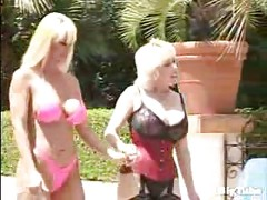 two big titted mature babes suck a guys cock<br>