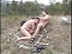 Sexy mature milf mom outdoors public sex blowjob<br>