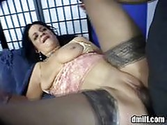 Naughty chick rides wild on hard cock