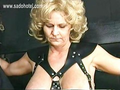 Older slave with big tits