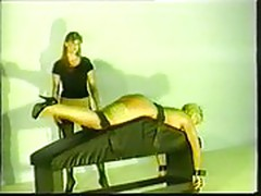 Debra spanked, whipped and strap-on fucked