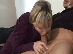 German Mature Mom Over 40 - Part 2 ( amateur mother milf granny olderwoman younger man cumshot blowjob homemade )<br>