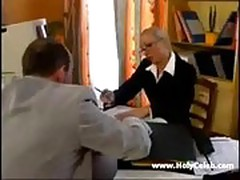 French milf Daisy office sex