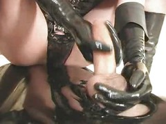 Sexy dominatrix mistress handjobs cumshots