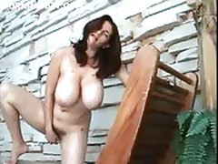 Big breasted amateur wife easing her orgasm
