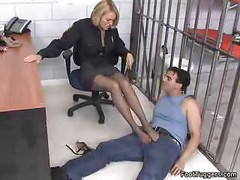 Policewoman Giving Footjobs<br>