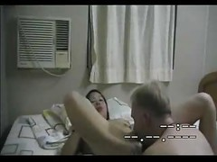 Chinese Waitress Doing An Old White Dude ( asian hardcore japanese mature )<br>