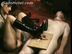 Pain 097Dirty slave lying on