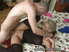 Blonde mom requires large