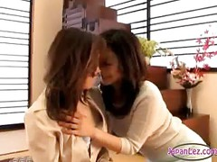 Mature Woman Kissing Getting