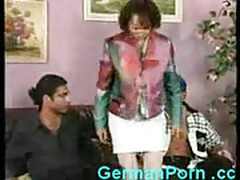Horny granny loves groupsex