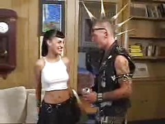 Mad punk fuck goth teen girl