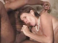 Mature Brunette tries Black