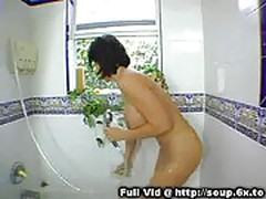 Busty milf in shower