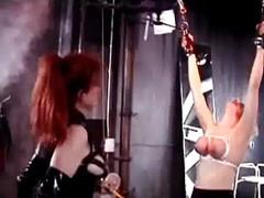 Blonde Slave Getting Tied Up