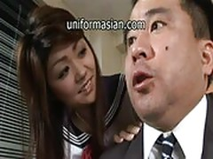 Asian schoolgirl in uniform sex