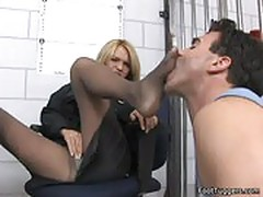Krissy Lyn - Policewoman Giving Footjobs