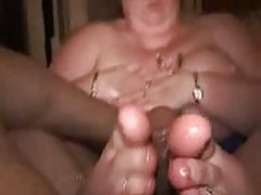 Grannie Oiled Footjob