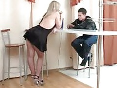 Mature in Pantyhose Fucks the