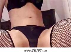Closeup pussy masturbation<br>