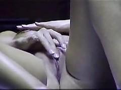 spy cam: masturbating in public solarium