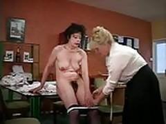 Lesbian Tailor Rubs Matures'