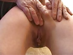 Anne, brunette spanked and sodomized