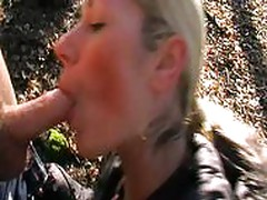 German Bitch Fucked in Woods