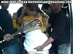 Schoolgirl molested in a bus Part 1