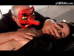Sleeping Girl Getting Her Nipples Torturede Pussy Fingered Fucked With Nose By Master In Mask<br>